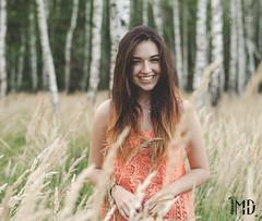 Paulina (m.dobrowolski) Tags: brunette model smile wood wildness poland warsaw woman