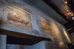Pompeii - Lupanare Erotic Wall Art Via Del Lupanare (VII.12.18) (Le Monde1) Tags: italy pompeii campania oscocampanian vesuvius pompei basilica forum lemonde1 nikon d610 unesco worldheritagesite volcano mountvesuvius volcanic eruption lava pyroclastic 79ad mosaic art lupanare entrance viadellupanare vii1218 wall painting erotic decoration brothel girls