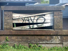 Yayo (Quetzalcoatl002) Tags: amsterdam graffity graffiti old decay muiderpoort station brown wood