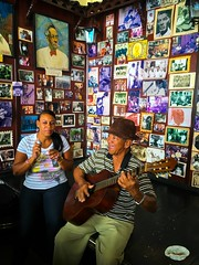 Casa de la Trova. Santiago de Cuba (H.L.Tam) Tags: cuban photodocumentary street iphoneography cubanfaces streetphotography sketchbook iphone6s cubasketchbook documentary cubanmusic cuba casadelatrova