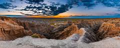 Badlands NP Sunrise 9.1 (Jack Lefor) Tags: panorama panoramic landscape scenic sunrise clouds rugged nikon nature southdakota badlandsnationalpark nikond810 fineart
