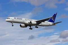 B757 P4-GAS London Heathrow 12.09.16 (jonf45 - 2.5 million views-Thank you) Tags: lhr london heathrow airport egll myrtle avenue airliner aircraft jet plane civil aviation air astana boeing 7572g5 b757 p4gas