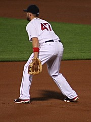 Defensive replacement - Shaw at first (ConfessionalPoet) Tags: redsox baseball travisshaw firstbaseman firstbase 1b defensivereplacement