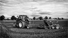 Stainton  . (wayman2011) Tags: fujifilmx100 lightroom wayman2011 bwlandscapes mono tractors farming farmmachinery rural pennines dales teesdale stainton countydurham uk