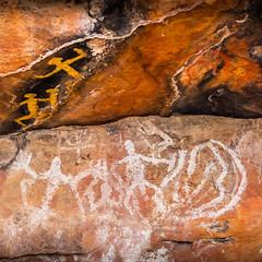 Ngiyampaa Rock Art Mt Grenfell (robertdownie) Tags: red rock orange art australian nsw cobar ngiyampaa people aboriginal