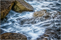 Sea Motion (Chenxi Ni) Tags: sea rock stone seaside coast isleofportland portlandbill outdoor seascape seamotion motion slowshutterspeed nikon d800 70200mm f4 nikon70200mmf4g