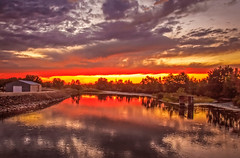 Sunset On Payette River (http://fineartamerica.com/profiles/robert-bales.ht) Tags: emmett haybales idaho misc people photo places river scenic states sunrisesunset sunrise sunset treasurevalley gemcounty floodingriver payetteriverreflections water scenicbiway blue americaphotography northamericaphotography pacificnorthwestphotography idahophotography beautiful sensational spectacular scenicriverphotography riverphotography panoramic awesome magnificent peaceful surreal sublime magical spiritual inspiring inspirational canonshooter red clouds robertbales