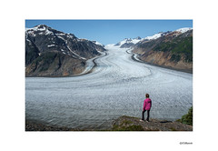Glacial Perspective (local37) Tags: salmon glacier stewart bc hyder ak ice morainne glacial person fuji 1855