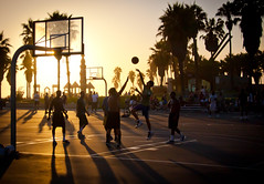 Sunset at Venice Beach Basketball Courts - Los Angeles CA 2 (ChrisGoldNY) Tags: chrisgold chrisgoldny chrisgoldberg chrisgoldphotos chrisgoldphoto posters albumcover bookcover forsale la losangeles california southerncalifornia travel viajes whitemencantjump basketballs sunsets sports sunset shadows thechallengefactory westcoast laist challengewinners ug ultimategrind friendlychallenges palmtrees basketball silhouttes sport socal cali factoryfinals challengefactory