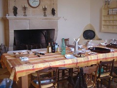 Haut Bailly kitchen getting ready for lunch
