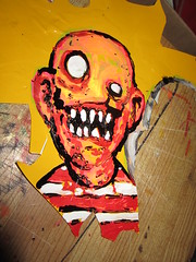 new life to old vinyl scraps (andres musta) Tags: art sticker stickerart zombie stickers squad adhesive andres zas musta zombieartsquad