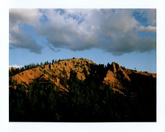 red canyon sunset view from photography loop (EllenJo) Tags: west polaroid utah ut roadtrip september southernutah americanwest 2012 chadsbirthday landcamera redcanyon instantfilm fujifp100c ellenjo bornin1972 ellenjoroberts september2012 rollfilmcameraconvertedtopackfilm convertedpathfinder