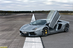 Are you ready? (Keno Zache) Tags: new sky canon photography eos grey doors power empty military wheels automotive ps rims lamborghini luxury airfield trackday rheine keno 400d zache aventador