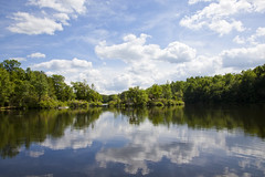 Mattatuck (RachelGouk) Tags: park trees sky usa lake reflection nature beauty clouds forest natural earth connecticut ct story boating environment waterbury recreational photoessay mattatuck mattatuckstateforest