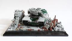 Fallout Zone Front (✠Andreas) Tags: tank post lego military diorama apoc legotank leopard3 camotank legopostapoc leopardmbt postapocdiorama legombt legoleopard3 eumainbattletank eulegotank legoleopardtank thepurgetank legocamotank