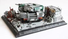 Fallout Zone Back (✠Andreas) Tags: tank post lego military diorama apoc legotank leopard3 camotank legopostapoc leopardmbt postapocdiorama legombt legoleopard3 eumainbattletank eulegotank legoleopardtank thepurgetank legocamotank