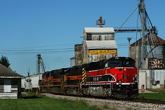 Rock Heritage.  Classic. (Jeff Carlson_82) Tags: ri railroad heritage station train railway iowa depot ge railfan rockisland 513 iais iowainterstate es44ac cbbi atalissa atalissaia