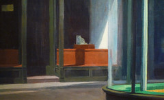 Hopper, Nighthawks with detail of storefront