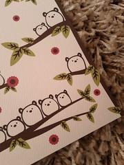 Gum Bear Mori Card (Cute.Kotori) Tags: bear brown white flower tree cute leave paper leaf fat bears felt special card kawaii occasion greeting greetingcards cardstock gumbear