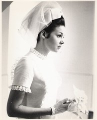 Bride- 60s? (912greens) Tags: portraits serious profiles reflective brides 1960s weddings folksidontknow