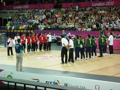London 2012 Paralympic Games - Quarter final match in the Female Goalball between Japan and Brazil (andrewkeith5) Tags: brazil japan olympicpark london2012 goalball copperbox paralympicgames paralympics2012 femalegoalball
