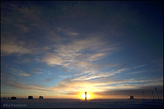 Summit Station Sunrise (Ed.Stockard) Tags: morning snow clouds glacier arctic greenland summit summitstation icesheet
