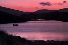 Row (Richard:Fraser) Tags: loch pinksunset outerhebrides rowingboat sealoch beautifulsunset amazingsunset peacefulsunset isleofharrissunset rowinguk rowinghebrides lochinharris sealochrowing