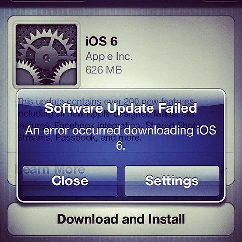 Anyone else having this issue with iOS 6?