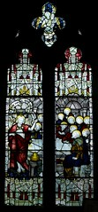 Jesus with disciples in Upper Room (IanAWood) Tags: stainedglass stmaryschurch hertfordshire cofe northchurch churchwindows churchofengland berkhamstead hertfordshirechurches walkingwithmynikon nikkorafs24mmf14g d800e