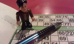 The doctor having a game of bingo
