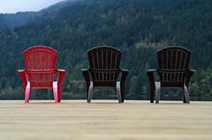 Red Chair (csztova) Tags: red dock chairs britishcolumbia cultuslake nikkor50mm18 nikond7000