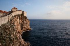 (Constantine Savvides) Tags: ocean old sea cliff castle water beautiful aqua europe croatia palisade acqua dubrovnik adriatic palisades croatie