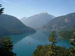Diablo Lake and a Couple of Hills and Mountains (Rozanne) Tags: northcascades diablolake