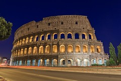 A Rome Landmark Since Almost 2000 years - Colosseum (Maria_Globetrotter) Tags: world italien blue italy rome roma heritage june stone by night stars concrete star italia roman centre capital landmark bynight unesco il colosseum clear hour empire flavio coliseum bluehour ever iconic rom unescoworldheritage built romana largest itlia titus itali colosseo whs anfiteatro bl  contests italya skymning   tala vespasiano rzym wochy riket timmen  ilcolosseo flavium amphitheatrum amfiteater vrldsarv landmrke bltimmen gladiatorial romerska  itali
