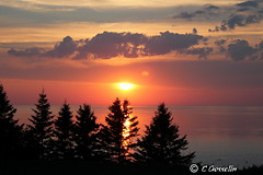 SUNSET OVER  ST. LAWRENCE RIVER  |   REFORD GARDENS   | LES JARDINS DE METIS  |  COUCHER DE SOLEIL  |   GASPESIE  |  QUEBEC   |  CANADA (C C Gosselin) Tags: sunsetonsaintlawrenceriver sunset saintlawrenceriver coucherdesoleilfleuvesaintlaurent coucherdesoleil fleuvesaintlaurent metis metisbeach metissurmer gaspesie quebec canada canoneosrebelt2i canoneos7d canon7d canon 7d eos7d canoneos eos canoneosrebelt2 ph:camera=canon geo:country=canada geo:region=quebec geonames:locality=metis coucher de soleil les jardins flickr