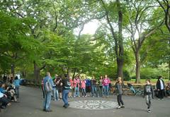 John Lennon memorial - Central Park NY (Seb Ian) Tags: park nyc newyorkcity usa newyork america memorial unitedstates centralpark manhattan imagine lennon johnlennon strawberryfields