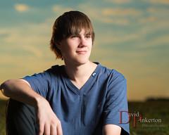 D.L. 2013 (David Pinkerton) Tags: sunset portrait male plm seniorportrait strobist cybersync singhrayvarind einstein640 nikkor85mmf14g vagabondmini