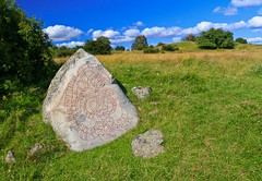 "The King's Rune Stone at Hovgrden (along with Birka called ""Sweden's first city"" and a UNESCO WHS) (Maria_Globetrotter) Tags: world city lake heritage archaeology stone la"