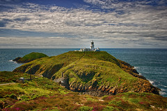(#1.898) The Lighthouse on Strumble Head, Pembrokeshire, West Wales (unicorn 81) Tags: lighthouse geotagged europe landscape hdr unitedkingdom wales strumbleheadlighthouse scenery landschaft natur greatbritain