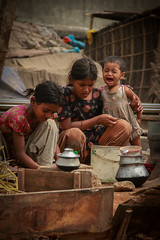 Life in Rail line....... (Anwar.Shamim) Tags: food baby house cooking girl slam child rice lifestyle pot cry bangladesh railline patil slamgirl
