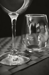 Dinner Glasses (frntprchprss) Tags: blackandwhite dinner table wineglass blackwhitephotos fixedshadows jamesgehrt
