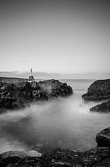Breakwater Rocks (Iain Brooks) Tags: longexposure lighthouse seascape water coast scotland nikon surf waves aberdeenshire aberdeen nd iain torry brooks breakwater grampian tamron1750 neautraldensity d7000