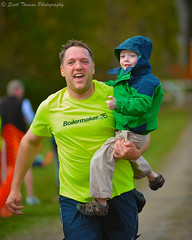 Family Finish (Scottwdw) Tags: family people newyork sports festival dad lafayette child bokeh father son running health runners excercise 15k afsvrzoomnikkor70200mmf28gifed applerun scottthomasphotography