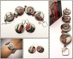 London jewelry (mijaka) Tags: london towerbridge londoneye bigben polymerclay fimo bracelet earrings pap natalija trafalgassquare
