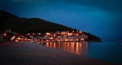 Moenika Draga - Blue Hour /Alternative Take (svenpetersen1965) Tags: sea marina village nightshot cloudy croatia bluehour hdr adriatic mediterranian 3px moscenickadraga moenikadraga
