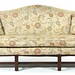62. Contemporary Upholstered Camel Back Sofa