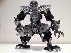 Lego Technic Bat-Robot (8) (RamblingCatastrophe) Tags: black silver pose robot lego bat technic bionicle