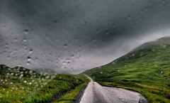 Driving through the storm. (bawtrees) Tags: road rain weather scotland driving isleofmull microfourthirds olympuspenep3 dramaticeffectfilter