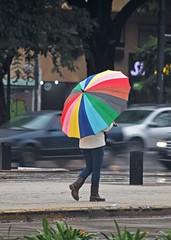 La lluvia (carlos_ar2000) Tags: woman color colour sexy argentina girl rain umbrella lluvia mujer buenosaires chica gorgeous montserrat paraguas