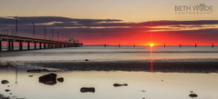 Shorncliffe Sunrise (Beth Wode Photography) Tags: sunrise dawn sunup jetty pier shorncliffe shorncliffejetty rocks lowtide beth wode bethwode